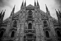 View from the bottom of the cathedral of Milano