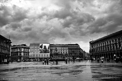 View of the Piazza del Duomo after the rain