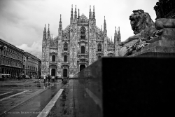 View of the duomo di Milano
