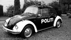 Old Norwegian police car - politi