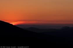 Sunset from sardinian hills