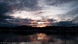 Sunset in oslo sweden