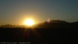 Sunset from the desert near sharm el sheikh