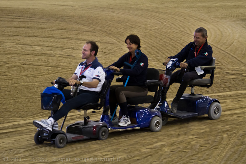 Italian para dressage team at World Equestrian Games 2010